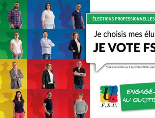 Elections professionnelles 2018