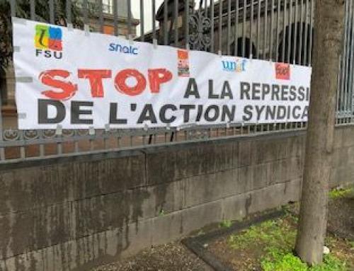 27 février, contre la répression syndicale et pour la liberté d'exercer nos mandats syndicaux