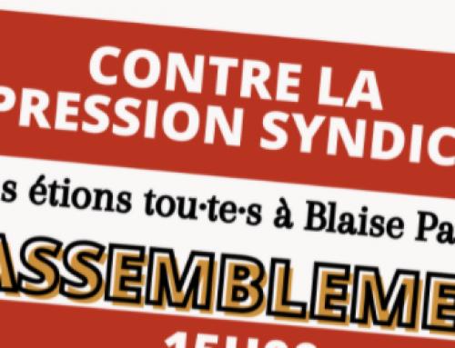 Contre la répression syndicale : rassemblement unitaire mercredi 16 juin 15h devant le Rectorat de Clermont